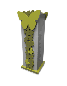 CALLEADESIGN: Butterfly portaombrelli moderno legno verde oliva in offerta