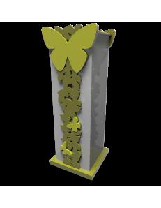 CALLEA DESIGN PORTAOMBRELLI MODERNO BUTTERFLY LEGNO COLORE VERDE OLIVA