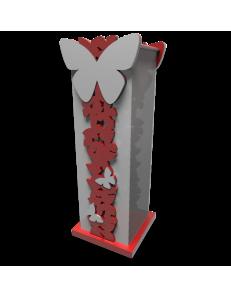CALLEADESIGN: Portaombrelli design farfalle legno rosso rubino grigio in offerta