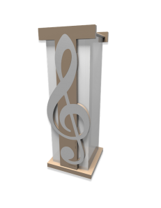 CALLEADESIGN: Paganini chiave di violino portaombrelli moderno design musicale legno squadrato