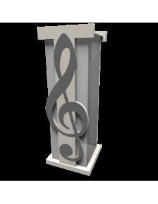 CALLEADESIGN: Chiave di violino portaombrelli moderno design musicale legno grigio quarzo in offerta