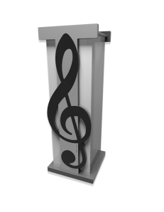 Paganini chiave di violino portaombrelli moderno design musicale legno squadrato nero grigio