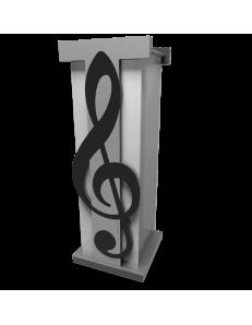 PORTAOMBRELLI MODERNO MUSICALE CHIAVE DI VIOLINO LEGNO NERO GRIGIO CALLEA DESIGN