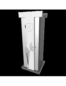 CALLEADESIGN: Portaombrelli moderno design gatto legno colore alluminio in offerta