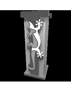 CALLEADESIGN: Geko portaombrelli moderno da ingresso legno colore grigio in offerta