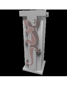 CALLEADESIGN: Geko portaombrelli moderno da ingresso legno colore rosa antico in offerta