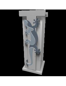 CALLEADESIGN: Geko portaombrelli moderno da ingresso legno colore azzurro polvere in offerta