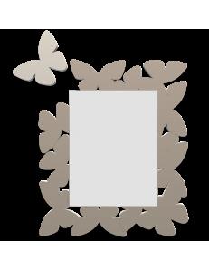 CALLEADESIGN: Butterfly specchio da parete moderno design farfalle legno tortora in offerta