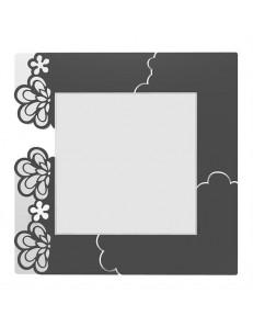 CALLEADESIGN: Merletto specchio floreale da parete moderno legno nero in offerta