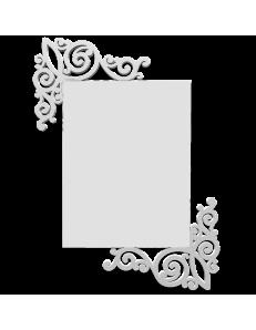 CALLEADESIGN: Art nouveau specchio da parete legno traforato bianco in offerta