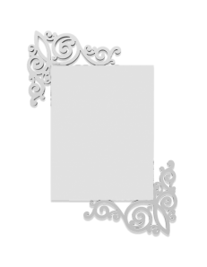 CALLEADESIGN: Art nouveau specchio rettangolare parete legno traforato color bianco in offerta