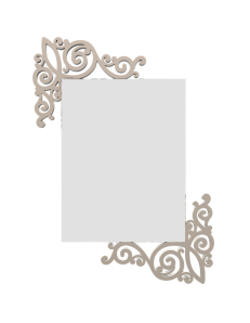 CALLEADESIGN: Art nouveau specchio da parete fregi legno colore sabbia in offerta
