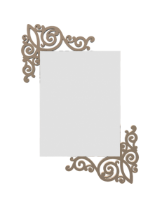CALLEADESIGN: Art nouveau specchio rettangolare parete legno traforato color caffelatte in offerta