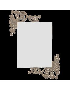 CALLEADESIGN: Specchio da parete originale legno colore caffelatte in offerta