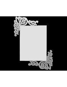 CALLEADESIGN: Art nouveau specchio rettangolare parete legno traforato color alluminio in offerta