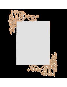 CALLEADESIGN: Art nouveau specchio rettangolare parete legno traforato color pesca chiaro in offerta