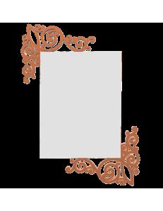 CALLEADESIGN: Art nouveau specchio rettangolare parete legno traforato color terracotta in offerta
