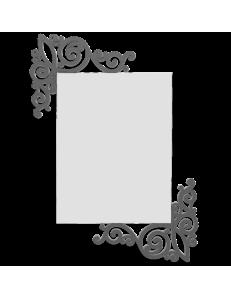 CALLEADESIGN: Art nouveau specchio rettangolare parete legno traforato color grigio quarzo in