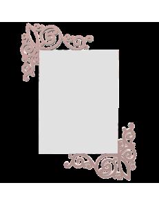CALLEADESIGN: Art nouveau specchio rettangolare parete legno traforato color rosa antico in offerta