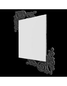 CALLEADESIGN: Art nouveau specchio rettangolare parete legno traforato color nero in offerta