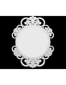 CALLEADESIGN: Vienna specchio decorato ovale parete cornice legno color bianco in offerta