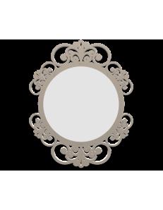 CALLEADESIGN: Vienna specchio decorato ovale parete cornice legno color tortora in offerta