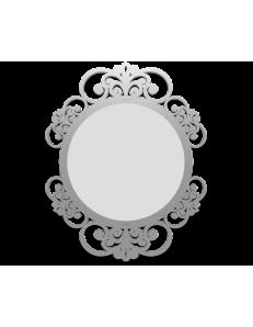 CALLEADESIGN: Vienna specchio decorato ovale parete cornice legno color alluminio in offerta
