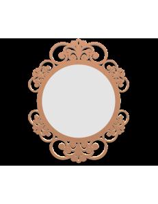 CALLEADESIGN: Vienna specchio da parete legno traforato colore abbronzato in offerta