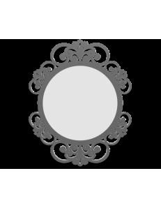 CALLEADESIGN: Vienna specchio decorato ovale parete cornice legno color grigio quarzo in offerta