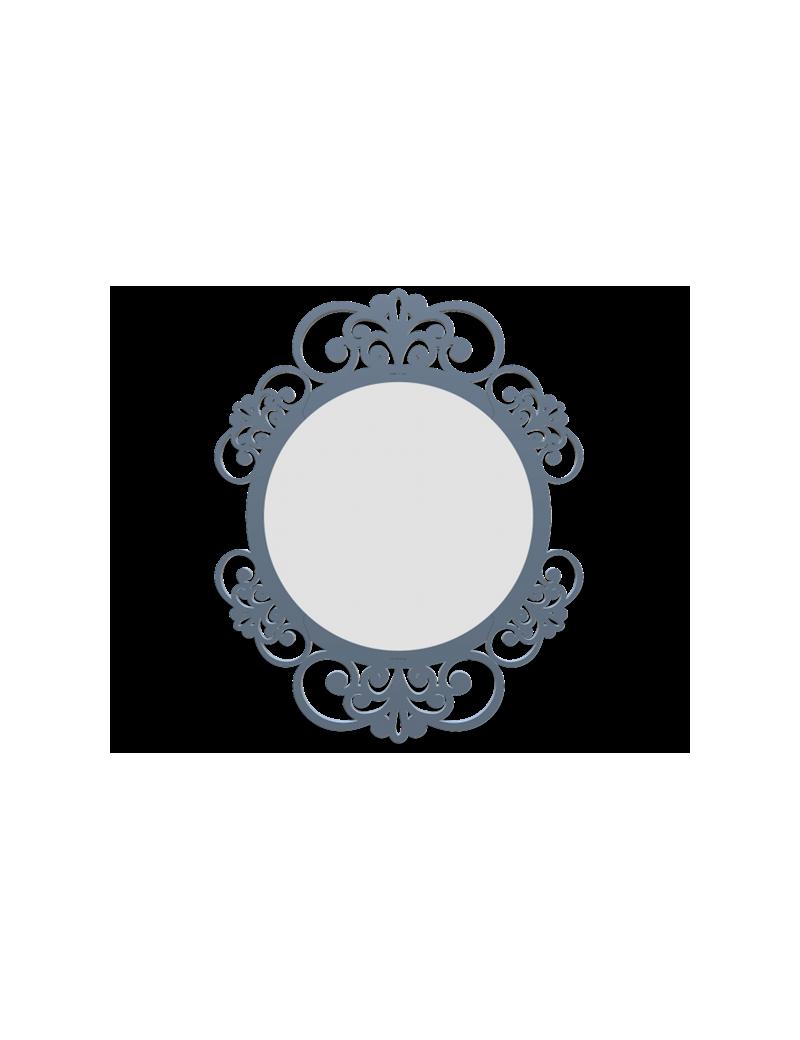 Callea design vienna specchio da parete fregi legno colore carta da zucchero - Parete carta da zucchero ...