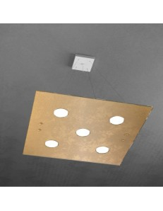 TOP LIGHT: Path 5 luci sospensione LED in vetro oro in offerta
