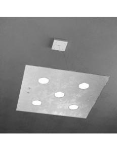 TOP LIGHT: Path 5 luci sospensione LED in vetro argento in offerta