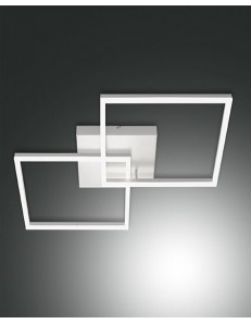 PLAFONIERA MODERNA LED 52 W doppio quadrato 4680 LUMEN DIMMERABILE BIANCO FABAS