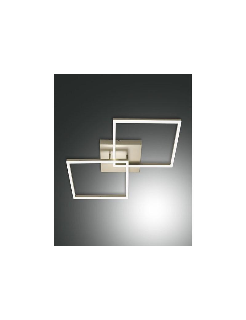 PLAFONIERA MODERNA LED 52 W doppio quadrato 4680 LUMEN DIMMERABILE ...