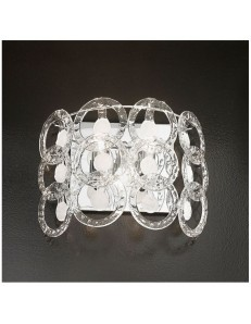Applique cristallo Mary Rose 42cm bianco Antea Luce