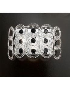 Mary rose applique cristallo nero 55cm in offerta