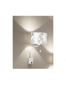 Applique con Led Fashion bianco arabescato argento Antea Luce