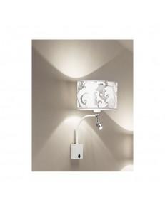 ANTEALUCE: Fashion applique LED bianco arabescato argento in offerta