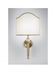Applique Venice base tonda ottone paralume panna Antea Luce