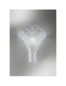 ANTEALUCE: Preziosa applique foglia cristallo trasparente in offerta