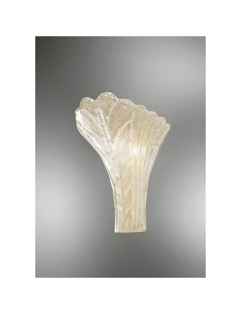 ANTEALUCE: Preziosa applique foglia cristallo ambra in offerta