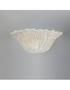 Raggio di sole applique vetro graniglia ambra 37cm