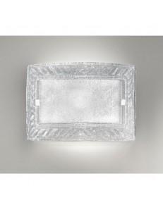 Giada applique plafoniera cristallo trasparente 32x47cm in