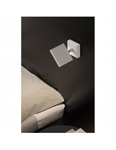 Plana applique LED orientabile bianco