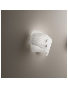 Applique Fold vetro bianco 25cm Antea Luce