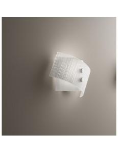ANTEALUCE: Fold applique vetro bianco 25cm in offerta