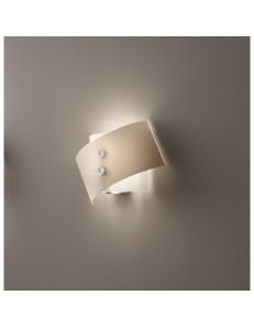 Applique Fold vetro tortora 25 cm Antea Luce