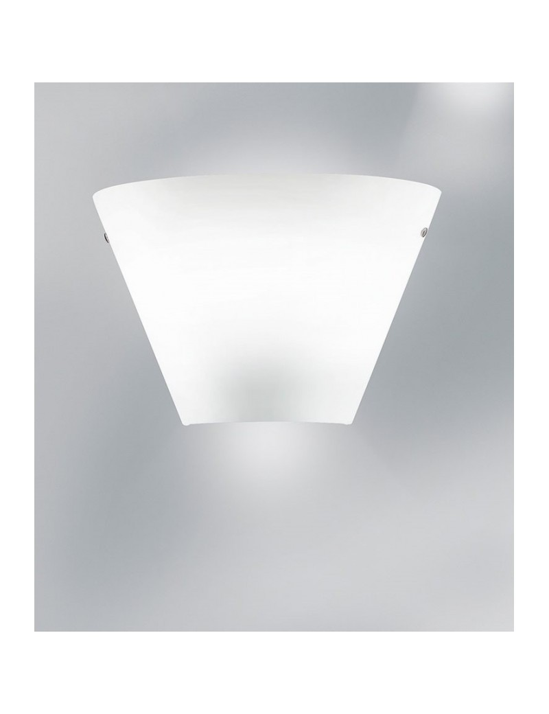 Melody light applique moderna vetro bianco 35cm per camera da letto