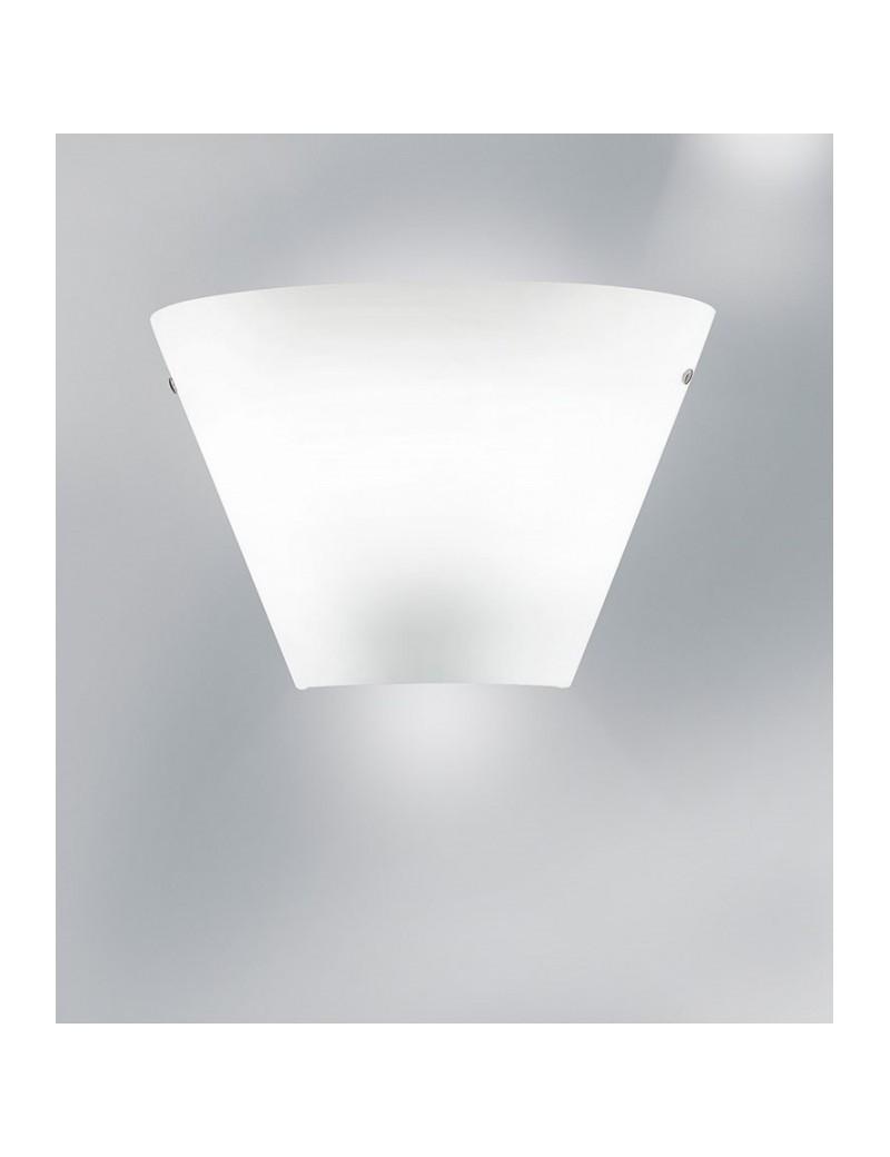Antealuce Melody Light Applique Moderna Vetro Bianco 35cm Per Camera Da Letto Misterlight It