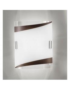 ANTEALUCE: Square applique plafoniera moka 37cm in offerta